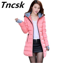 Warm Winter Jackets 2017 Women Fashion Down Cotton Parkas Casual Hooded Long outerwear Thickening Plus Size