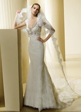 free shipping Luxurious nobility 2014 new allure plus size customize color/size strapless sweetheart lace Mermaid wedding dress