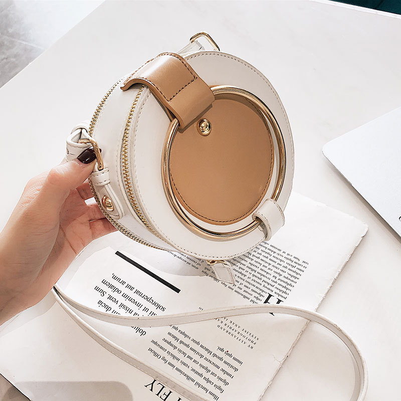 Female Round Crossbody Bags For Women 2019 High Quality Leather Luxury Handbags Designer Sac Main Ladies Shoulder Messenger Bag in Shoulder Bags from Luggage Bags