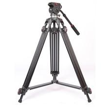 Прого Jieyang jy0508 jy-0508 5 кг профессиональный Камера штатив видео штатив/DSLR видео штатив Жидкости Глава демпфирования видео оптовая продажа