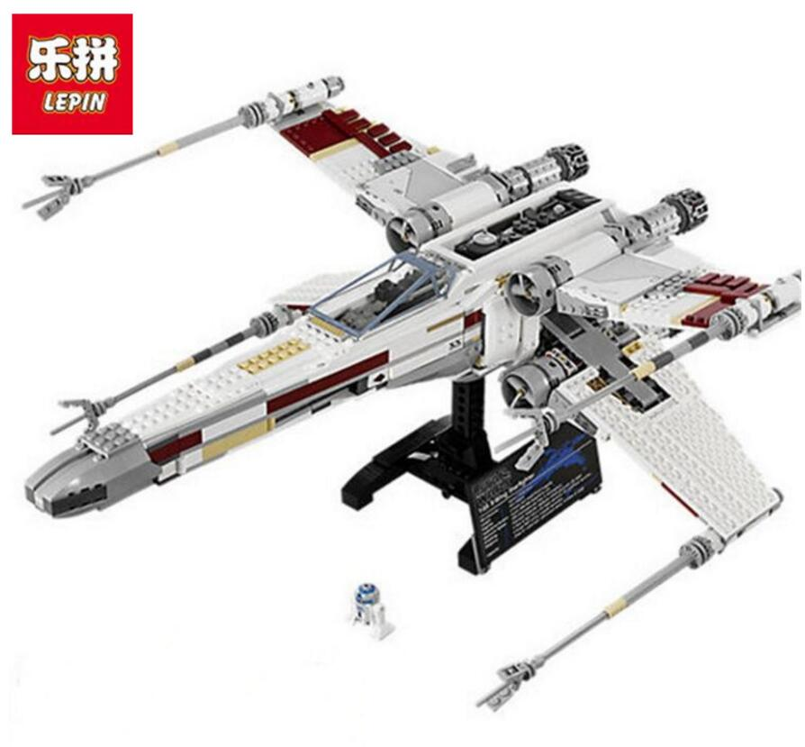 Lepin 05039 1586 Pcs Star Series War Genuine The X Model Wing Red Five Star fighter Set Building Blocks Bricks Toys rollercoasters the war of the worlds