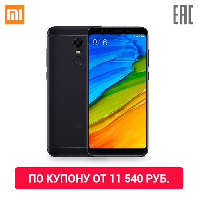 По купону от 11 540 руб. Смартфон Xiaomi Redmi 5 Plus  3 ГБ + 32 ГБ  Официальная гарантия 1 год, Доставка от 2 дней
