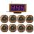 """Equipos de Restaurante de Paginación Del Sistema de Llamada sin hilos con 1.8 """"Receptor Digital Anfitrión + 8 unids Transmisor Botón Localizador F3238"""