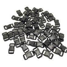 100 шт/лот черные пластиковые 3/8 дюйма/10 мм изогнутые боковые