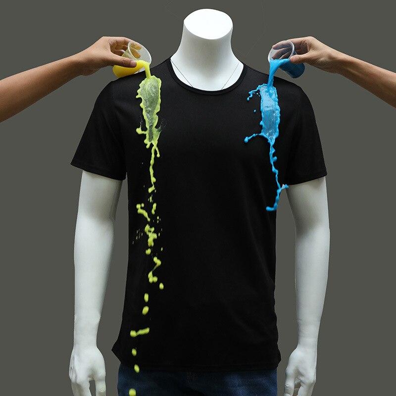 2018 Sempre pulito Idrofobo Impermeabile Mens T Shirt Antivegetativa FRESCO T-Shirt O-Collo Per Il Fitness Quick Dry Allentato Magliette e camicette Tee