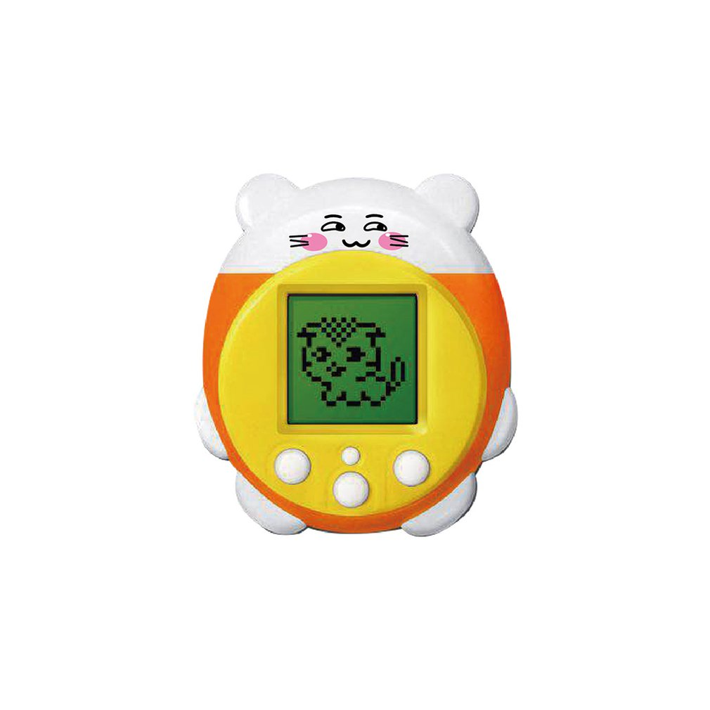 Yellow Video Game E-pet Toy Sounding Color Screen Display Portable Virtual Cyber Pet Game Console