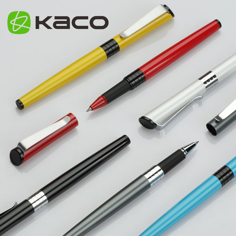 1PC Kaco Luxo Business Metal Rollerball/ballpoint/sign Pen Silver Clip 0.5mm Black Ink Writing Pens with An Original Box