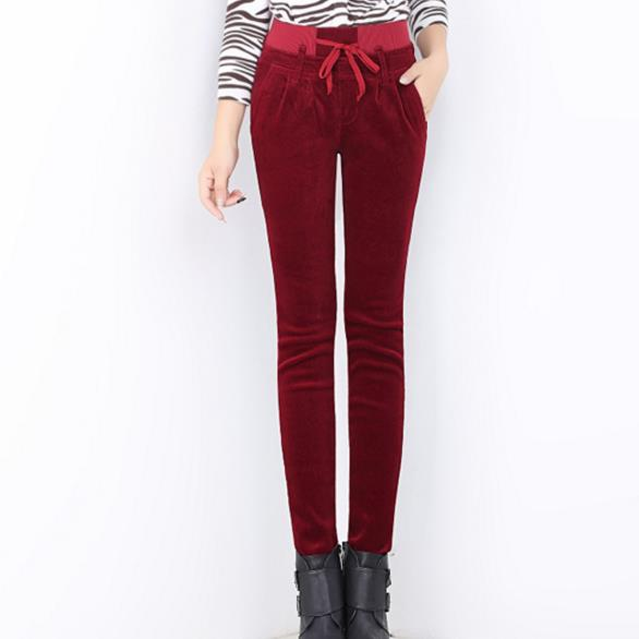 87958d98614 Buy slim waisted casual elastic vintage pants plus and get free shipping on  AliExpress.com