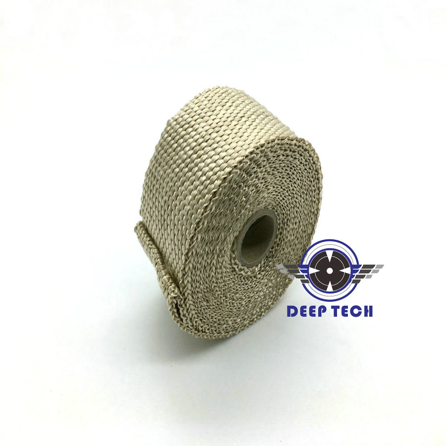 """Image 4 - 10m x  2"""" Free Shipping  Beige Exhaust Muffler Pipe Header Heat Resistant Exhaust Wrap With 10 Pcs Stainless Steel Cable Ties-in Exhaust & Exhaust Systems from Automobiles & Motorcycles"""
