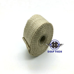 """Image 4 - 10m x  2"""" Free Shipping  Beige Exhaust Muffler Pipe Header Heat Resistant Exhaust Wrap With 10 Pcs Stainless Steel Cable Ties"""