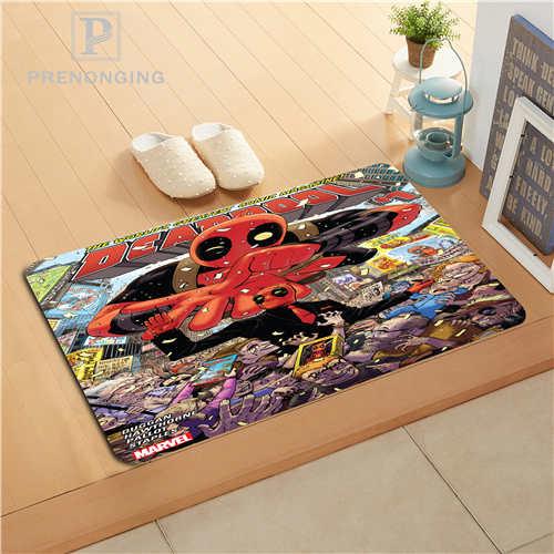 Custom Deadpool Marvel Doormat Print slip-resistant Mats Floor Bedroom Living Room Rugs 40x60cm 50x80cm Free Shipping 171128-17