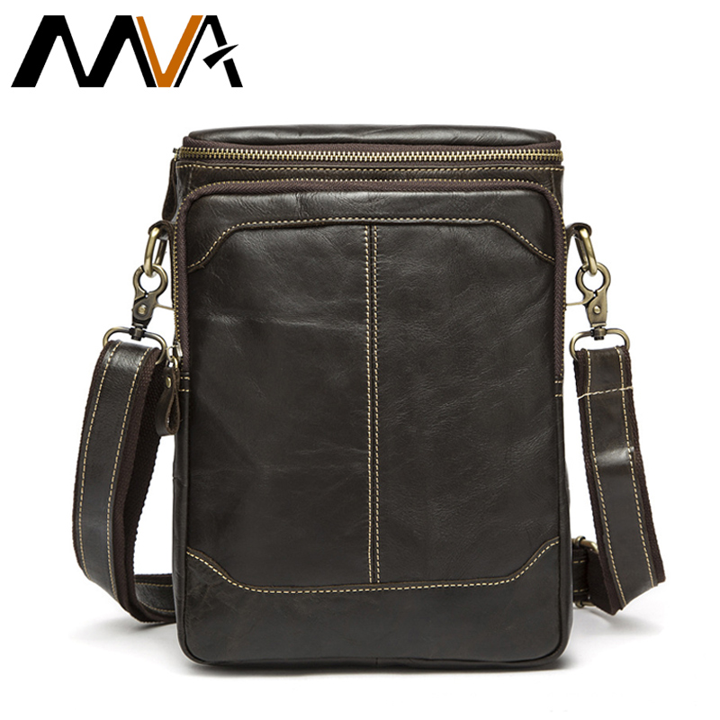 MVA Men Shoulder Bag Male Genuine Leather Zipper Cowhide Flap Casual Crossbody Bags for Men Messenger Bags Men Leather Bag 8003 westal hot sale male bags 100% genuine leather men bags messenger crossbody shoulder bag men s casual travel bag for man 8003