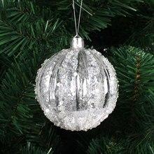 4pcs/lot 6cm Christmas tree decorations transparent hollow acrylic sequined balls Xmas decorations for home adornos navidad 2015