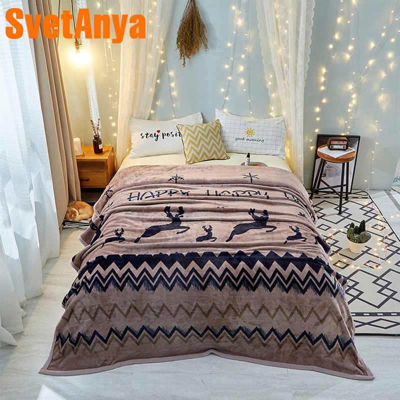 Svetanya Deer Blanket warm Winter Sheet twin full double queen king size Throws