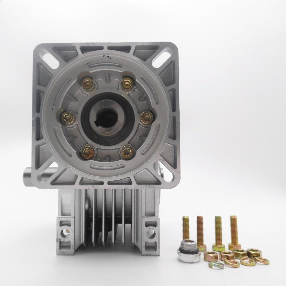 NMRV063 Worm Reducer Ratio 20:1 14mm/19mm/22mm/24mm Input Shaft Worm Gear Speed Reducer NEMA52 for Servo Motor Stepper Motor соединительная шина 1п типа pin iek yns21 1 063