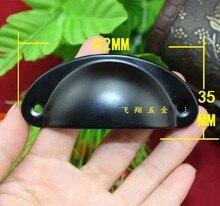 30pcs Steel Black Cabinet Simple Shell Style Wardrobe Cupboard Drawer Pulls Handles