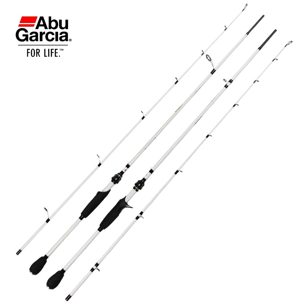 Free shipping white abu garcia 6 39 9 7 39 mh m fishing rod for White fishing rod