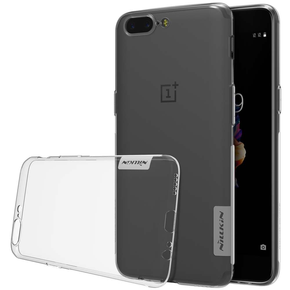 OnePlus 5 Case TPU Transparent Soft Rubber Shell For One Plus 5 NILLKIN Nature Back Cover Silky Smooth and Ultra Thin Phone Case