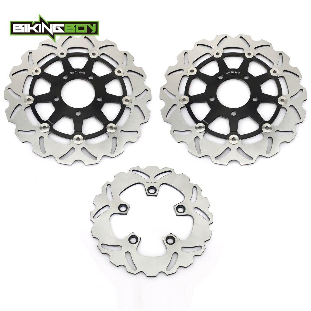 BIKINGBOY Front Raer Brake Discs Rotors Disks Pads For