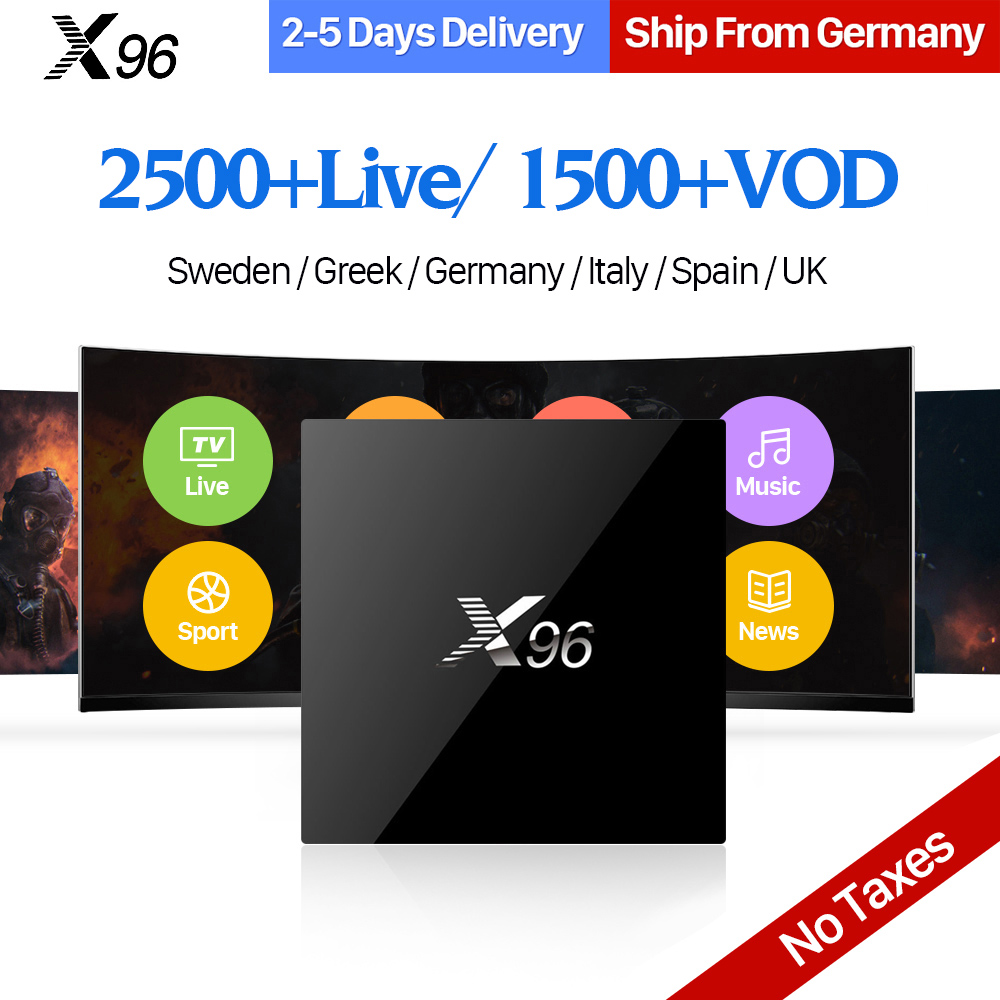 IPTV Sweden Spanish X96 TV Box Smart 4K Ultra HD Android 6.0 2500+ 1 Year IUDTV Code IPTV Europe Swedish Italy Arabic IPTV Box best french iptv dalletektv leadcool smart tv android iptv box europe swedish arabic 2500 channels 1 year iudtv iptv stb box