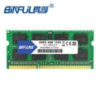 BINFUL DDR3 4G 1333 Mhz PC3-10600 2 GB/4 GB tout neuf pour ordinateur portable mémoire Ram Netbook RAM memoria