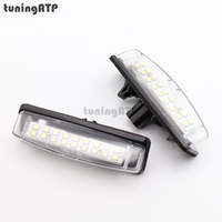 2x 18 SMD LED License Plate Lights For TOYOTA Camry XV40 Yaris XP10 Prius Ipsum Previa