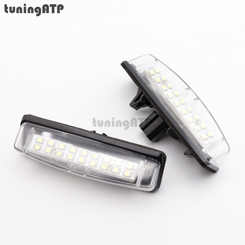 18-SMD LED License Plate Light Bulb for TOYOTA Camry XV40 / Yaris XP10 / Echo / Prius NHW11 / Previa / Ipsum / Avensis Verso special car trunk mats for toyota all models corolla camry rav4 auris prius yalis avensis 2014 accessories car styling auto