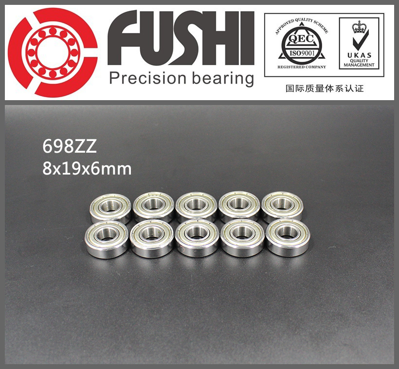 698ZZ Bearing ABEC-5 10PCS 8x19x6 mm Miniature 698Z Ball Bearings 698 ZZ EMQ Z3V3 Quality 683zz bearing abec 7 10pcs 3x7x3 mm miniature 683 zz ball bearings 618 3zz emq z3v3 high quality