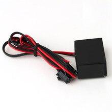 Черный 12 В блок питания конвертер постоянного тока в переменный для EL лампы электролюминесцентный провод 5 м светодиодный драйвер вольт led