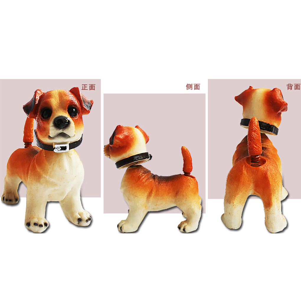 Cute Ornament Shaking Dog Decoration Nodding Resin Puppy Dog Shaking Bobbing Head Dogs Car Dog Decoration