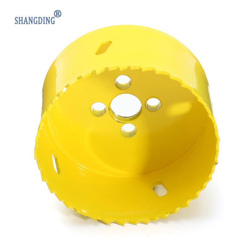 80 mm vysokorychlostní ocel M42, žlutá kovová dírová pila, - Vrták - Fotografie 3