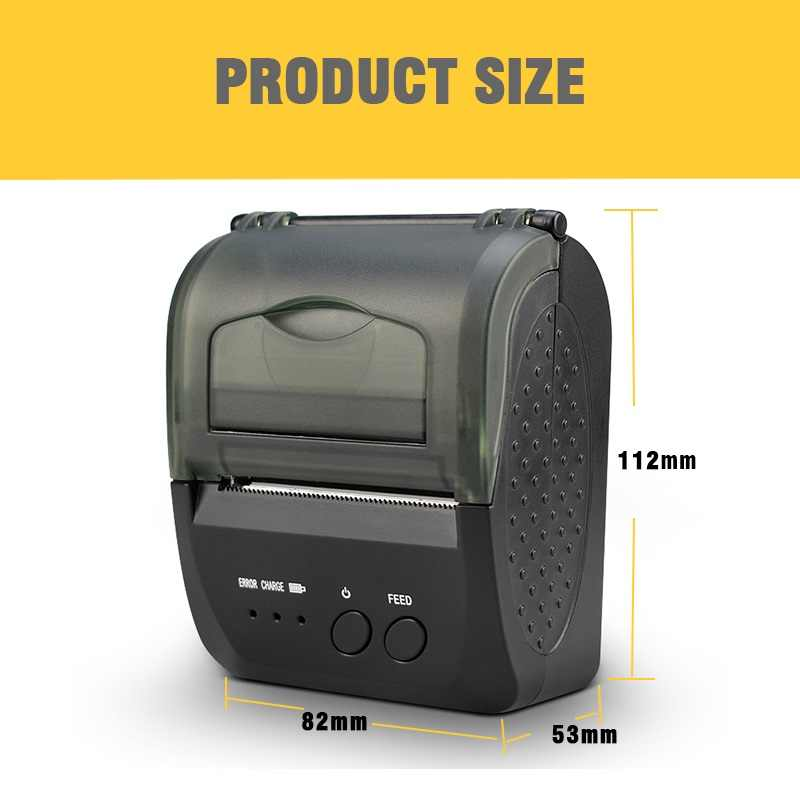 JP-5809LYA 58 มม.แบบพกพามือถือบลูทูธเครื่องพิมพ์ความร้อน USB ใบเสร็จรับเงิน POS Bill Termal เครื่องพิมพ์สำหรับ shop