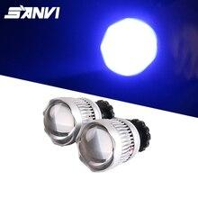 Sanvi 2.5 inch Auto Single Beam LED Projector Lens Headlight 25W 6000K Car High Beam LED Lamp H7 9005 9006 Light Retrofit цена