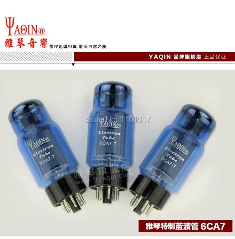 YAQIN Blue ware 6CA7 T Tube HIFI EXQUIS Vocuum Electron Lamp 6CA7-T to Replace EL34 цена