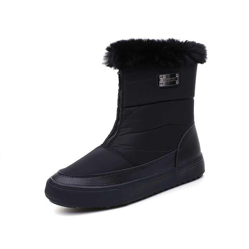 Donne stivali antiscivolo impermeabile inverno stivali da neve della caviglia della piattaforma delle donne di inverno con spessore di scarpe di pelliccia botas mujer