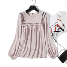 White Hollow Out  Blouses Womens 2019 New Spring Long Sleeve Shirts Casual Streatwear Tops and Harajuku