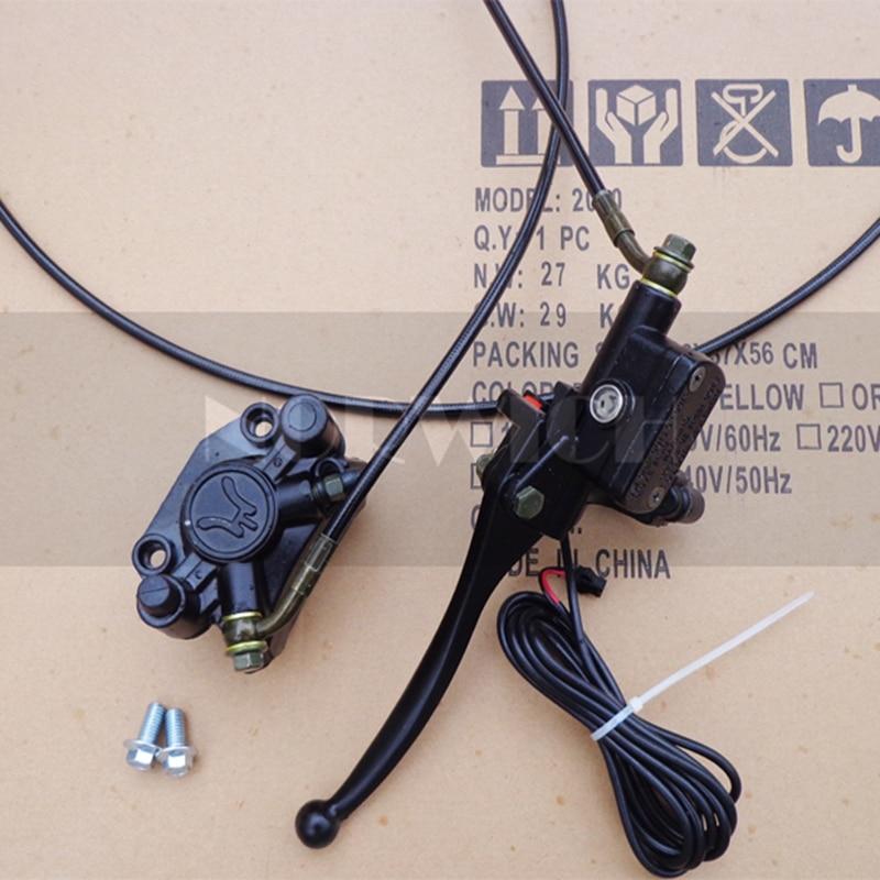 Citycoco Electric Scooter Brake Core Front Rear Brake Line Kit Screw Handbrake Brake Switch Hydraulic Pump Brake Handle Motor