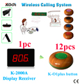 Электронная система вызова номера 1 Счетчик Дисплей приемник 12 клиентов гудки 433 92 МГц