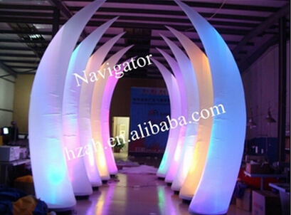 LED Lighted Inflatable Ivory for Party Decoration wedding inflatabe star inflatable lighted stars for party decoration