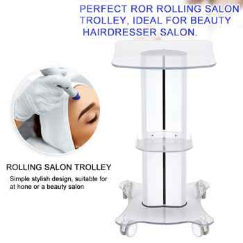 Professional Toilet Bag Salon Trolley Salon Use Pedestal Rolling Cart Wheel Aluminum Stand Beauty Parlor Spa Tool Accessory