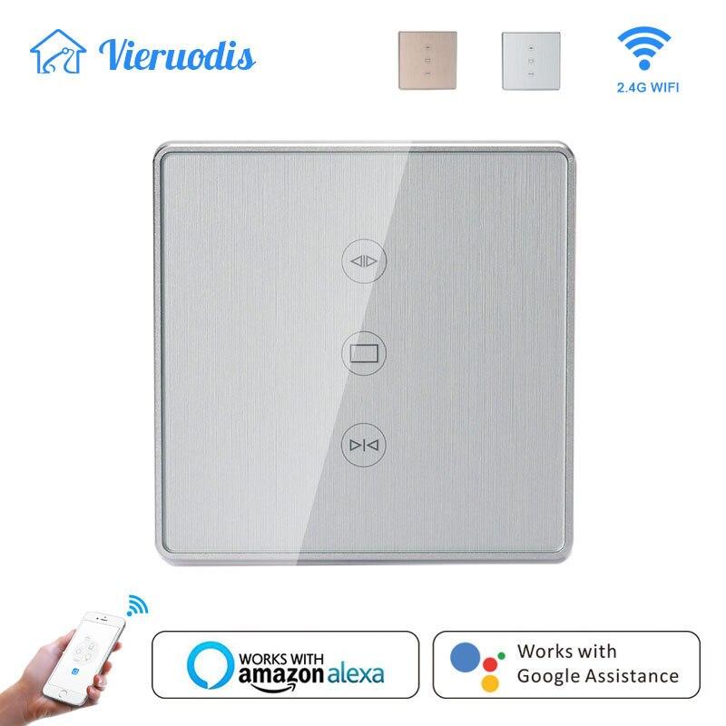 Ouro/Prata Tuya blinds Cortina de vida Inteligente WiFi Switches Controle APP para Cortinas Eléctricas Motor Funciona com Alexa & inicial do Google