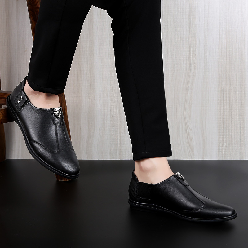 Young Casual Shoes for Boy Black Brown Male Shoes Handmade Loafers Weight Light Men Walking Driver Shoes Non Slip Lazy Shoes Men in Men 39 s Casual Shoes from Shoes
