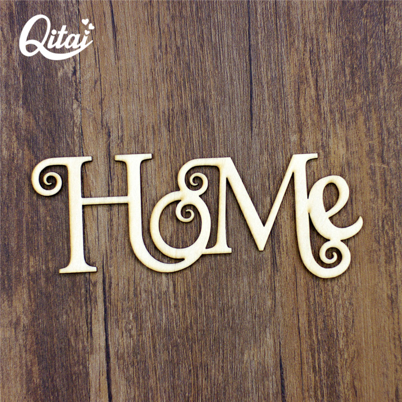 QITAI 12pcs/lot Home Wood Word New Year Decoration Craft Great Gifts For Home Decor Wholesale Creative Thick Plywood WF271