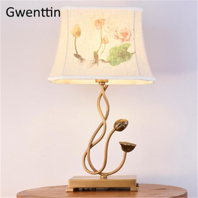 Chinesischen Stil Vintage Tisch Lampen für Schlafzimmer Bett Licht Nacht  Wohnzimmer Led Schreibtisch Leuchten Wohnkultur Luminarias