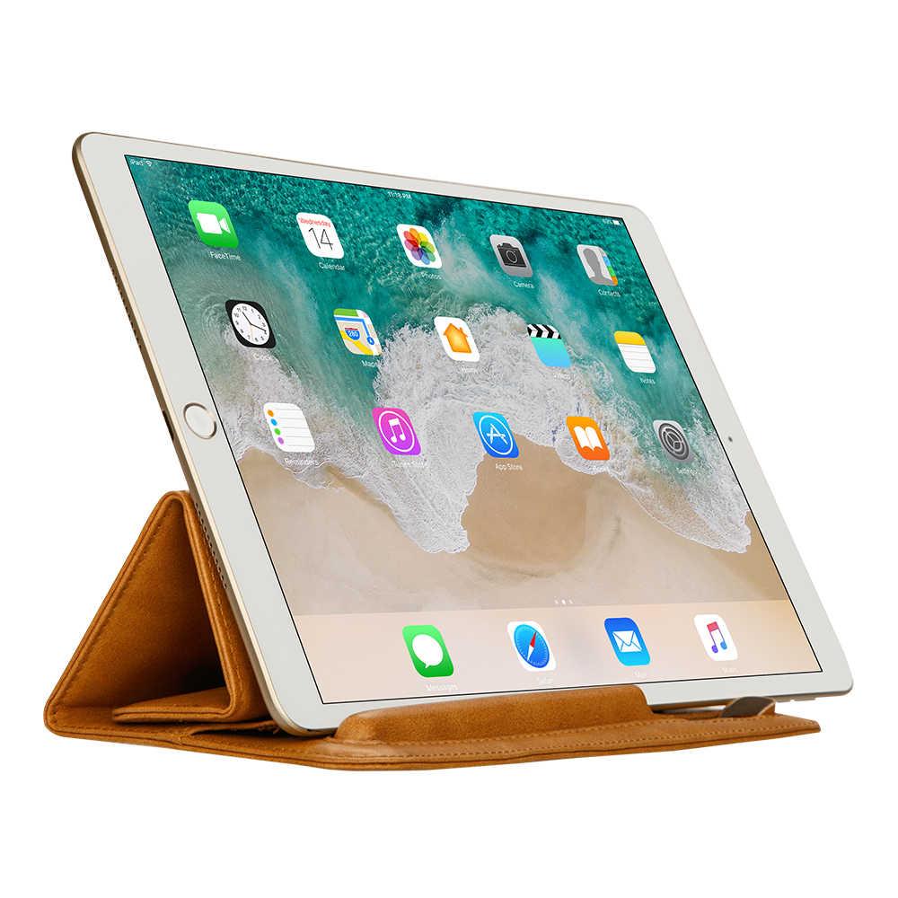 Jisoncase Leder Hülse Fall Beutel für iPad Pro 10,5 2017 Abdeckung Weichen Falten Hülse Tasche mit Bleistift Slot für iPad pro 9,7