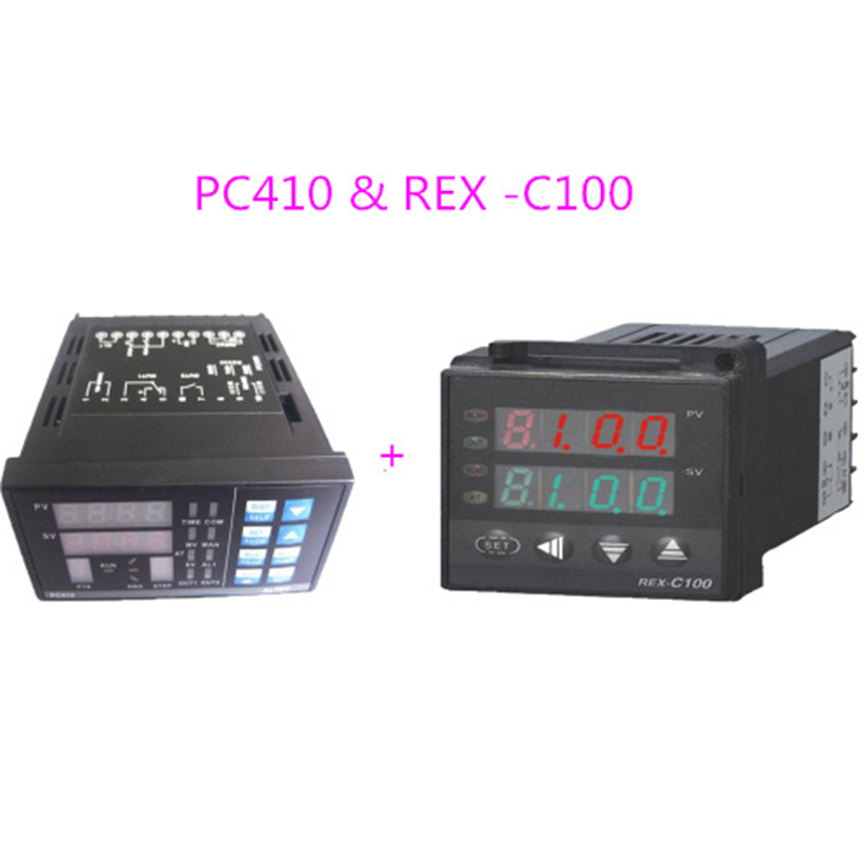 PC410 Temperature Controller with RS232 Communication Module & REX-C100 Tempereature Controller For IR6000 BGA Rework Station pc410 temperature controller panel thermostat rex c100