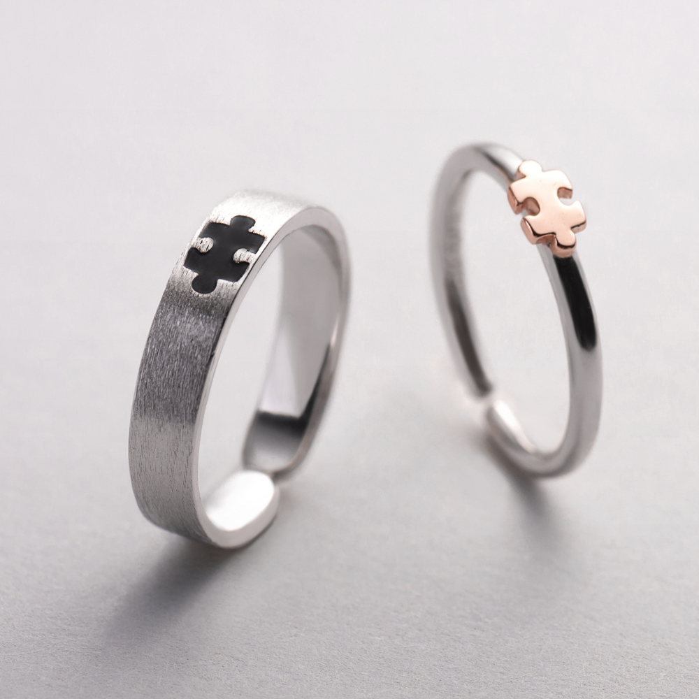 Image 5 - Thaya Rose Gold 3d Puzzle Rings Bijoux En Argent 925 Engagement Finger Ring For Women Gift Handmade Jewelry Bijoux Femme-in Rings from Jewelry & Accessories