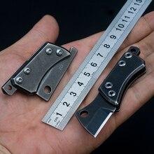 ФОТО d2 steel tactical pocket knife stainless steel handle camping karambit folding knife edc defense key chain fishing tools