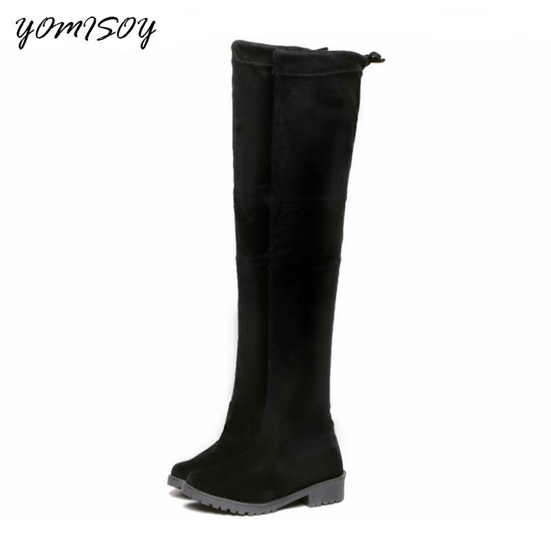 Shoes Women Boots Zapatos De Mujer Women Platform Woman High Boots Botas Largas Mujer Knee High Boot Over The Knee Boot 2017 fashion winter platform boots knee high heels women shoes woman zapatillas botas zapatos mujer zip for ladies party shoes