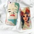 Nueva llegada de blue ray mujer sexy marilyn monroe teléfono case para iphone 7 7 plus 6 6 s 6 más 6 splus coque contraportada flores chica